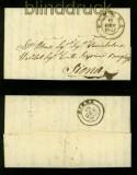 Italien PIENZA Vorphilabrief 1847 nach SIENA (35335)