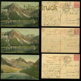 Arosa farb-AK drei Karten Obersee (2) und Älplisee 1907 (a2119)