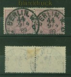 dt. Reich Mi #  37 d waagerechtes Paar gestempelt geprüft Petry BPP (41878)