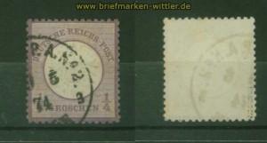 dt. Reich Mi #  16 gestempelt geprüft Krug BPP (35354)