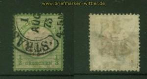 dt. Reich Mi #  17 a gestempelt geprüft Krug BPP (35355)