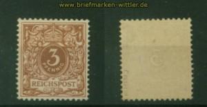 dt. Reich Mi #  45 c postfrisch geprüft Petry BPP (35377)