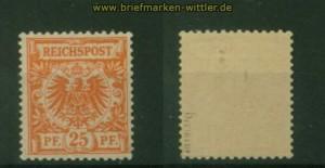 dt. Reich Mi #  49 b postfrisch geprüft Petry BPP (35380)