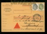 dt. Reich Dienst Mi # 126 + 128 MiF Dienst-Nachnahmekarte EBERSBERG 1933 (41867)