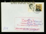 Bund Fernbrief nach Sarajevo 1993 ZURÜCK-Stempel kein Postverkehr (41852)