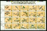 Taiwan Mi # 2408/27 Vögel postfrischer Zusammendruckbogen (35557)
