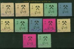 Lokalausgaben Großräschen Mi # 13/24 A meist Type I postfrisch (35597)