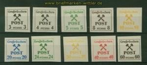 Lokalausgaben Großräschen Mi # 31/42 z 10 Werte postfrisch (35600)