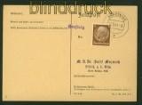 dt. Reich HRASTNIG Not-Stempel auf Blanko-Postkarte 1941 (42315)