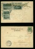 ALT-LEININGEN sw-AK Gruss aus ..... drei Ansichten 1899 (d6804)