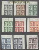 Bund Heinemann komplett als 4er-Blöcke vom Eckrand oben postfrisch (35679)