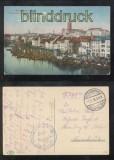 KÖNIGSBERG farb-AK Fischbrücke mit den Kartoffelkähnen Feldpost 1916 (d0100)
