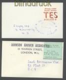 Großbritannien Poststreik 1971 6 Briefe mit Privatpostmarken  (35651)