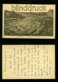 SAARBRÜCKEN sw-AK Louisenbrücke mit Saarpartie 1919 (d6159)