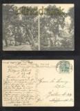 DÖBERITZ Dorf sw-AK zwei Ansichten Bahnpost 1909 (d6832)