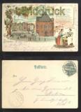 BREMEN farb-Litho-AK Gruss aus ....... Marktplatz 1901 (d6837)