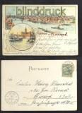 BREMEN farb-Litho-AK Gruss aus ....... zwei Ansichten 1900 (d6838)