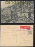 dt. Reich Feldpost 1. WK AK Feldpostaufkleber 1916 militärischen Gründen verzögert (35963)
