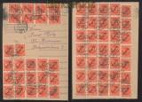 dt. Reich Dienst 80 x Mi # 16 EF Dienstbrief Massenfrankatur (41051)