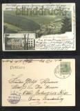 SCHMALZGRUBE farb-AK Gruss aus der Lorenzmühle Bahnpost 1905 (d6867)