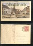 ANNABERG farb-AK Barbara Uttmann-Denkmal 1919 (d6876)