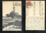 AUERBACH sw-AK Schloßturm und Neumarkt Bahnpost 1914 (d6878)