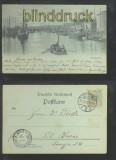 STETTIN sw-AK Gruss aus ..... Mondscheinkarte 1898 (d6946)