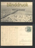 KOLBERG sw-AK Strand und Seesteg 1915 (d6949)