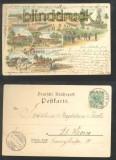 GRUPPE farb-Litho-AK Gruss vom Truppenübungsplatz sechs Ansichten 1899 (d6969)