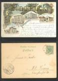 GRAUDENZ farb-Litho-AK Gruss .......  sechs Ansichten 1899 (d6970)