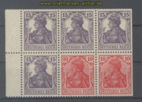 dt. Reich Heftchenblatt Mi # 19 aa A postfrisch (35747)