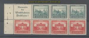 dt. Reich Heftchenblatt Mi # 69 A Nothilfe 1930 postfrisch (35780)