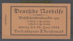 dt. Reich Heftchenblatt Mi # 70 B postfrisch im MH 30 (35781)
