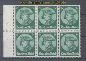 dt. Reich Heftchenblatt Mi # 74 A  Fridericus 1933 postfrisch (35782)