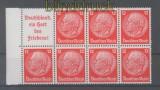 dt. Reich Heftchenblatt Mi # 86 B Hindenburg 1936/37 postfrisch (35784)