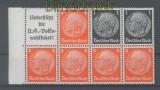 dt. Reich Heftchenblatt Mi # 88 B Hindenburg 1936/37 postfrisch (35786)