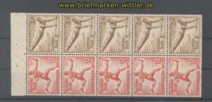 dt. Reich Heftchenblatt Mi # 105 B Olympische Spiele 1936 postfrisch (35803)