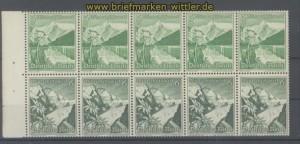 dt. Reich Heftchenblatt Mi # 111 B Winterhilfswerk 1938 postfrisch (35809)