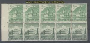 dt. Reich Heftchenblatt Mi # 115 B Winterhilfswerk 1940 postfrisch (35813)