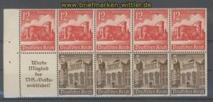 dt. Reich Heftchenblatt Mi # 116 B Winterhilfswerk 1940 postfrisch (35814)