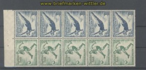 dt. Reich Heftchenblatt Mi # 106 B Olympische Spiele 1936 postfrisch (35804)