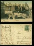 BERLIN farb-AK Lange Brücke mit Dom und Kgl. Schloss 1907 (d6510)