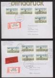 Berlin ATM 1987 Mi # 1 Versandstellensatz 1 komplett auf 3 FDC Ersttagsbriefen (42742)