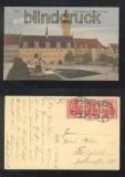 ZEITZ farb-AK Neues Rathaus mit Brunnen und Anlagen 1920 (d7028)