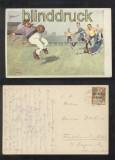 Fussball farb-AK Out Künstlerkarte B.K.W.I. 228-6 (d7040)