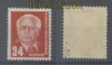 DDR Mi #  252 b postfrisch Präsident Wilhelm Pieck geprüft Paul BPP (35919)