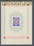 Polen 1945 Lagerpost Dachau-Allach Block IV Rote Kreuz Block ohne Gummi (35922)