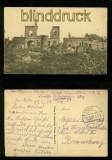 BREST-LITOWSK sw-AK zerstörte Häuser Feldpost 1917 (a1095)