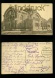 BREST-LITOWSK sw-AK Gebäude Feldpost 1917 (a1096)