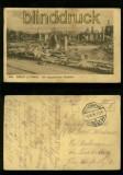 BREST-LITOWSK sw-AK ein abgebrannter Stadtteil Feldpost 1916 (a1097)
